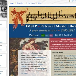IMSLP Home Page