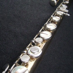 Yamaha YFLb441 Gold Brass Bass Flute - Used Flute