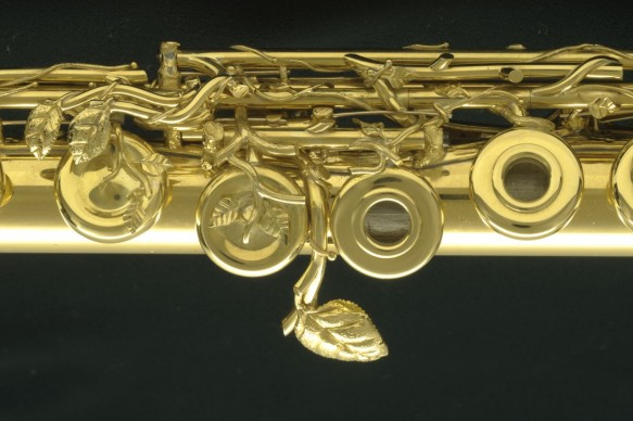 Solid 18k Gold Lunn Flute - Used Flute