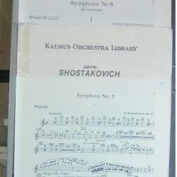 Shostakovitch Piccolo Music, Used Music, Used Flute